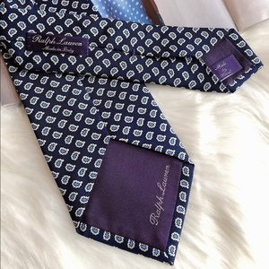 Ralph Lauren Purple Label Accessories - Ralph Lauren Purple Label Navy Blue Silk Necktie